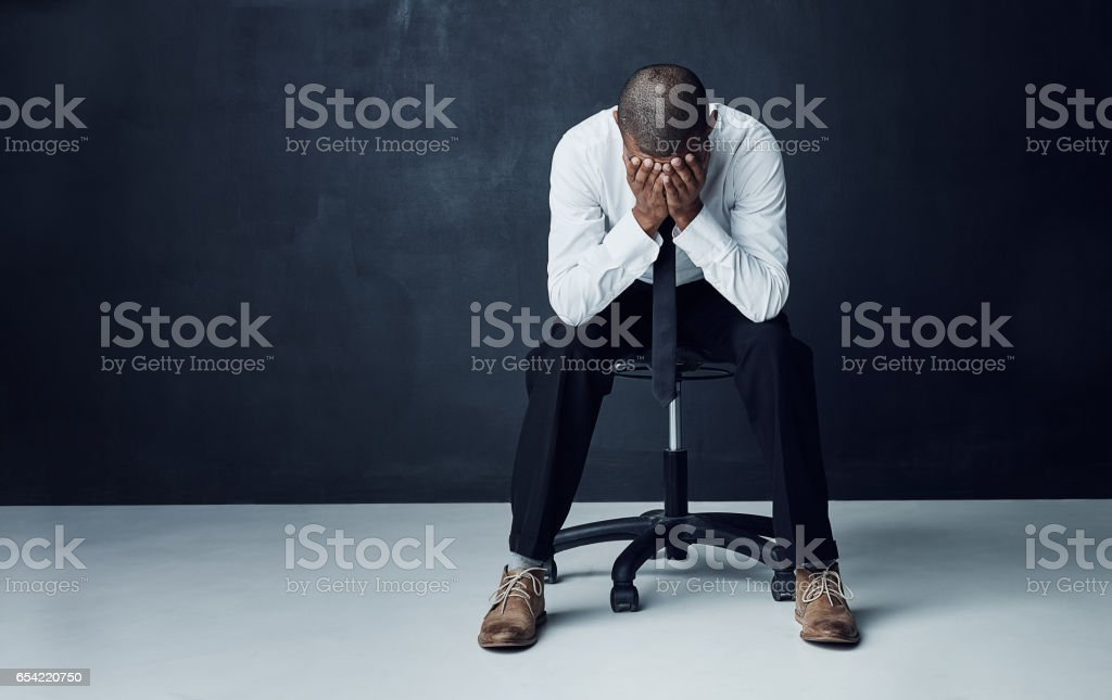 Everyone has battles to face before they see success stock photo
