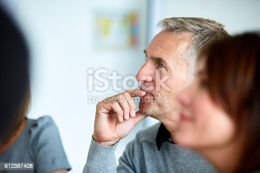 istock Everyone is interested in this presentation 612387408