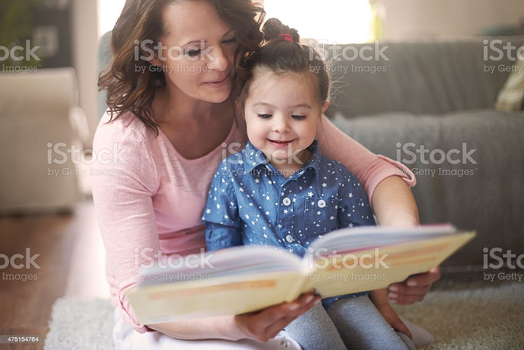 Everyone likes read a books together stock photo