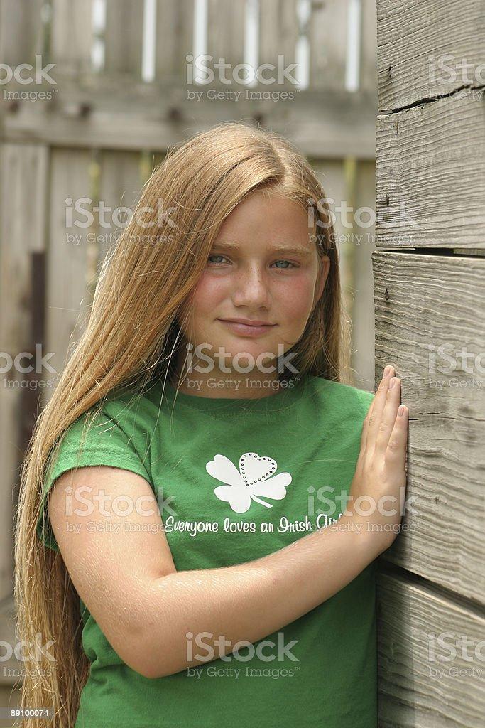 Everyone Loves An Irish Girl stock photo