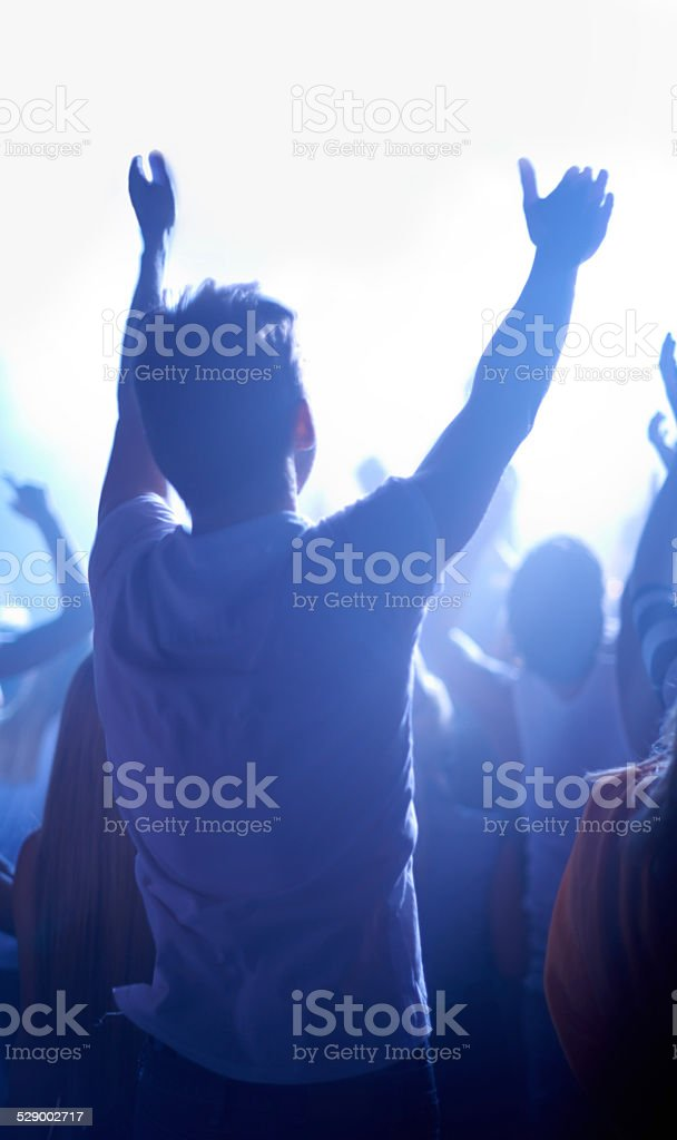 Everyone loves music stock photo