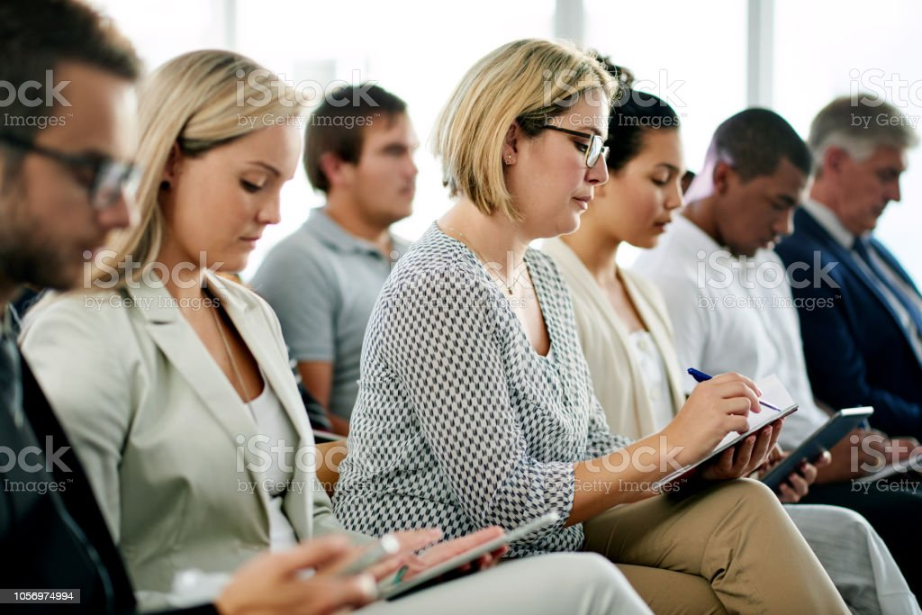 Everyone tales something away from this seminar stock photo