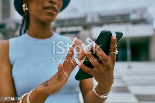 istock Everyone wants to know her nail technician's number 1307401269