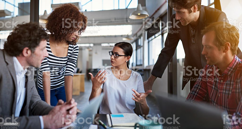 Everyone's contribution counts on this team stock photo