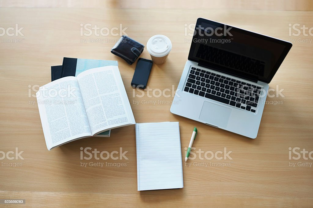 Everything a blogger needs stock photo