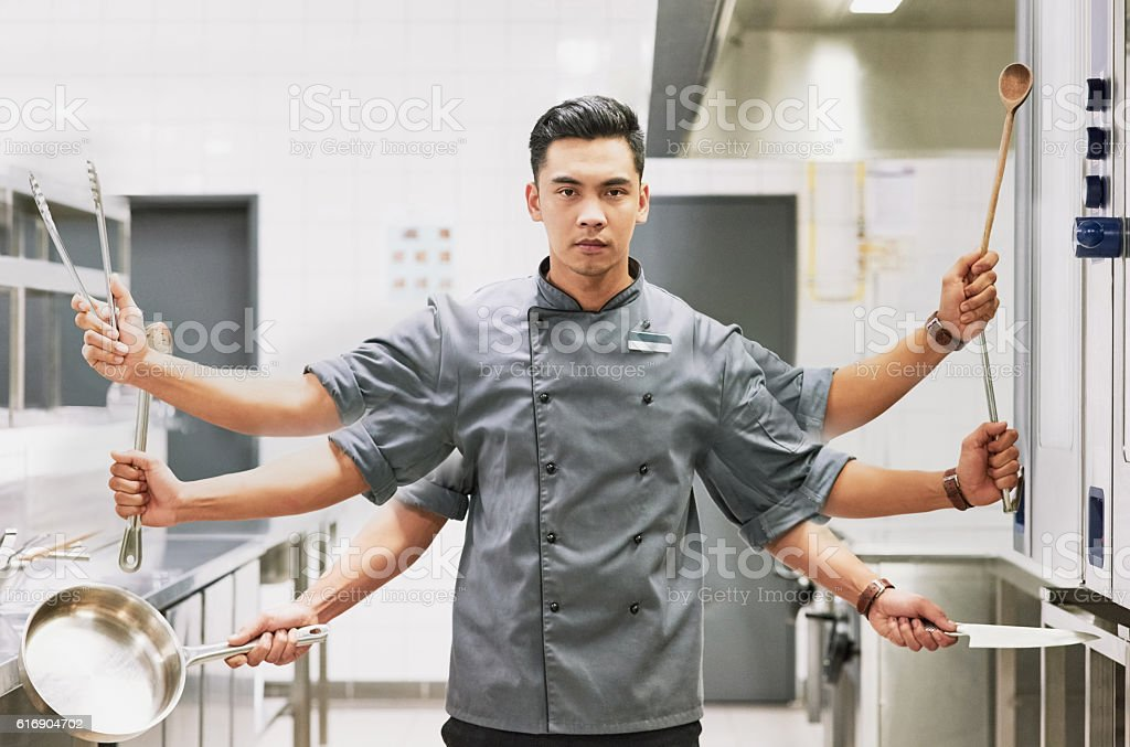 Everything a sous chef needs stock photo