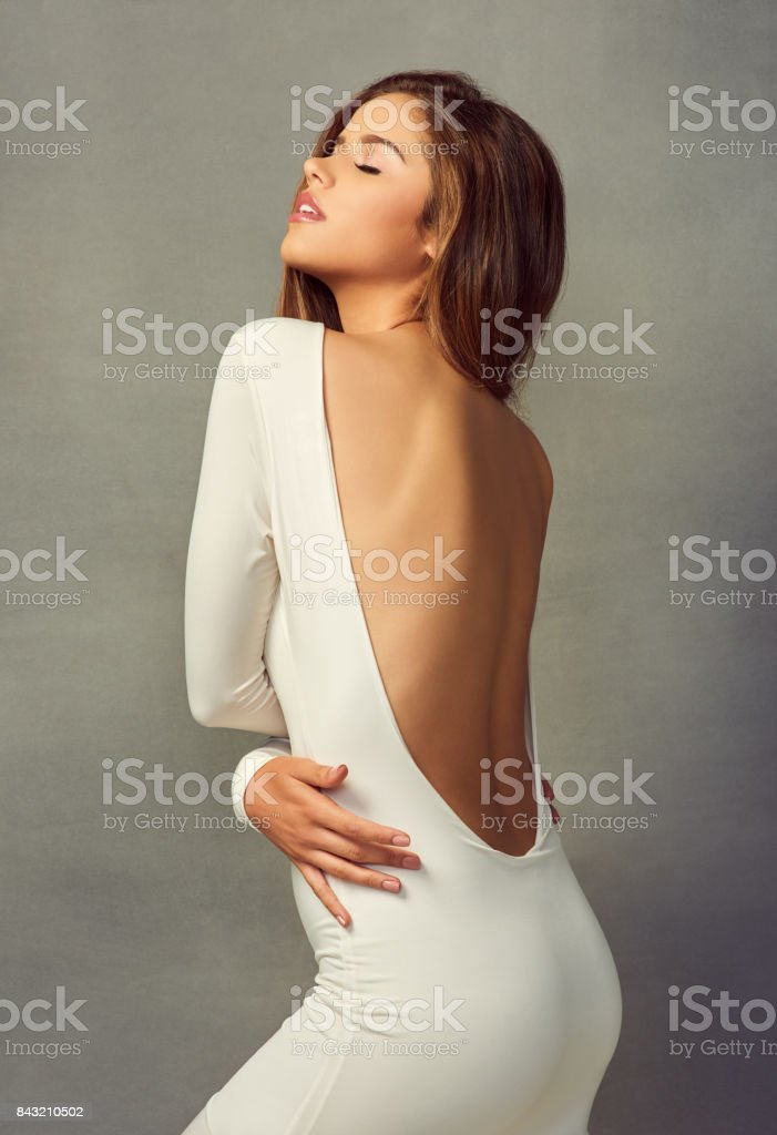 Everything about her is completely flawless stock photo