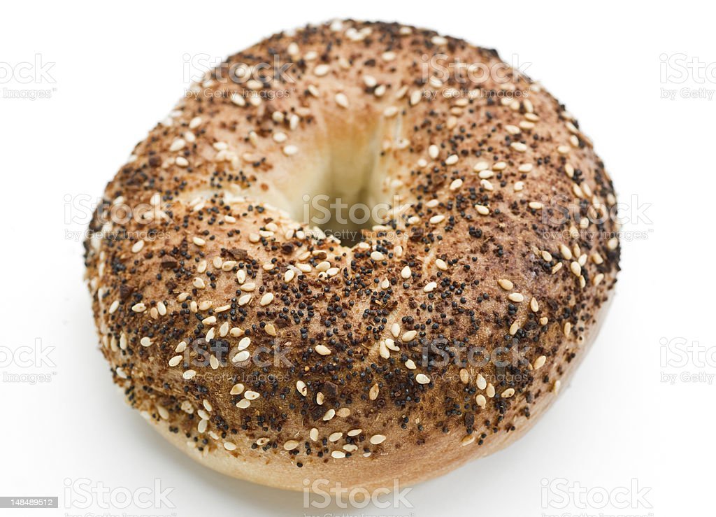 Everything bagel royalty-free stock photo