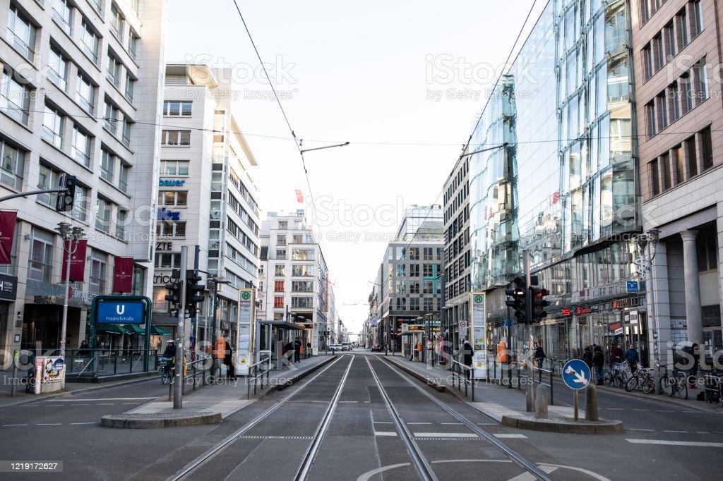 Everything closed on Berlin's Friedrichstrasse due to Coronavirus - Royalty-free Architecture Stock Photo