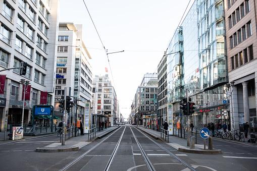 Everything closed on Berlin's Friedrichstrasse due to Coronavirus