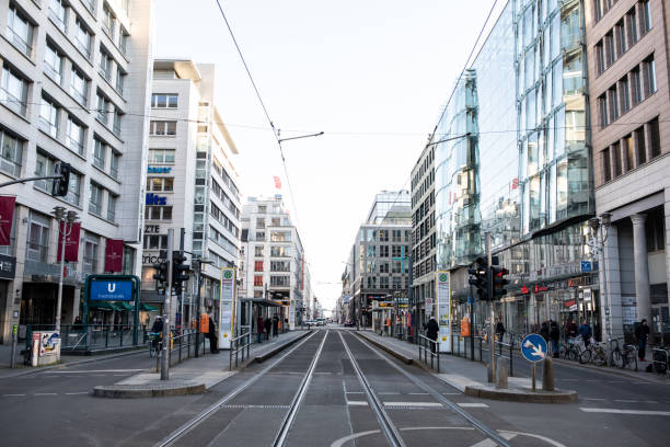 Everything closed on Berlin's Friedrichstrasse due to Coronavirus stock photo