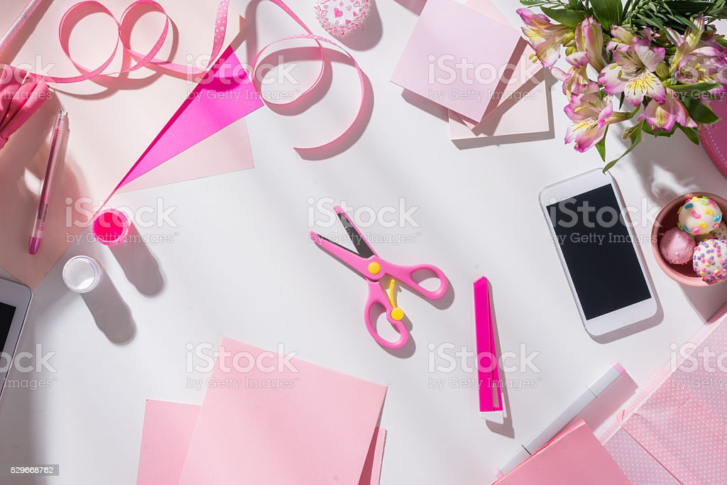 Everything for creative work stock photo