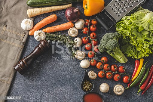 istock Everything for fresh vegetables salad 1210602722