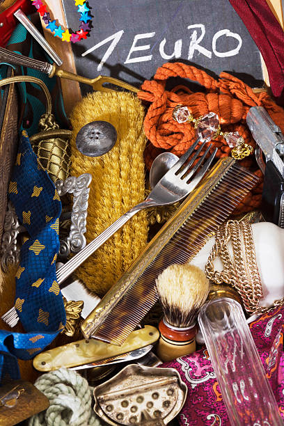 alles, was sie für ein euro flea market - besteck günstig stock-fotos und bilder