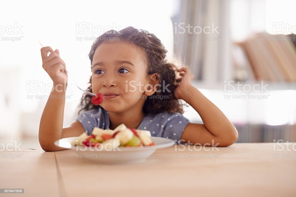 Everything good for a growing child stock photo