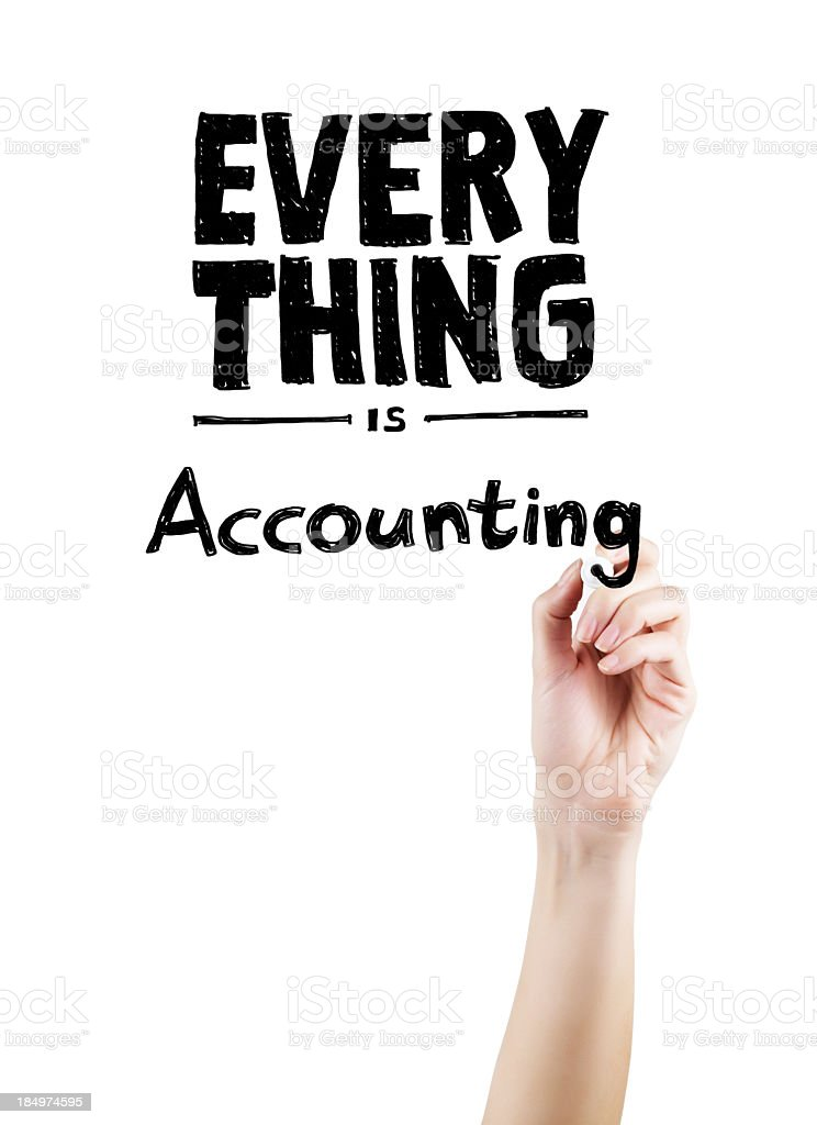 Everything is Accounting stock photo