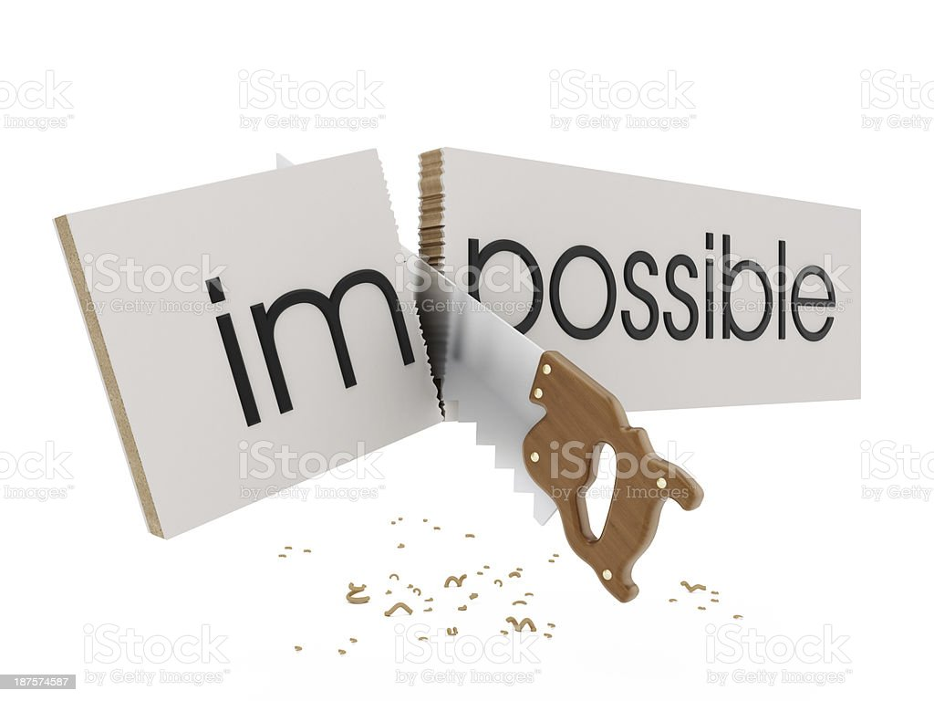 Everything is possible royalty-free stock photo