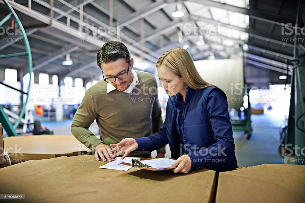 Everything looks in order stock photo