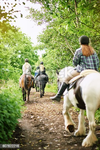 istock Everything looks more beautiful when you're on horseback 607622216