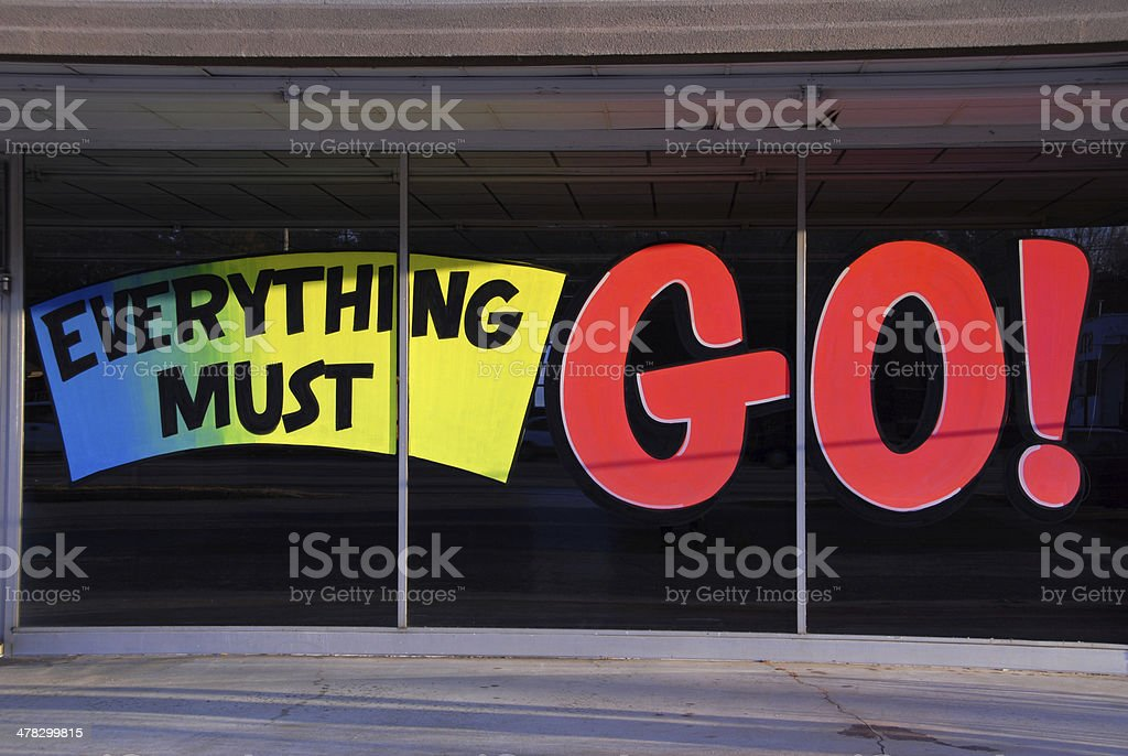 Everything Must Go stock photo