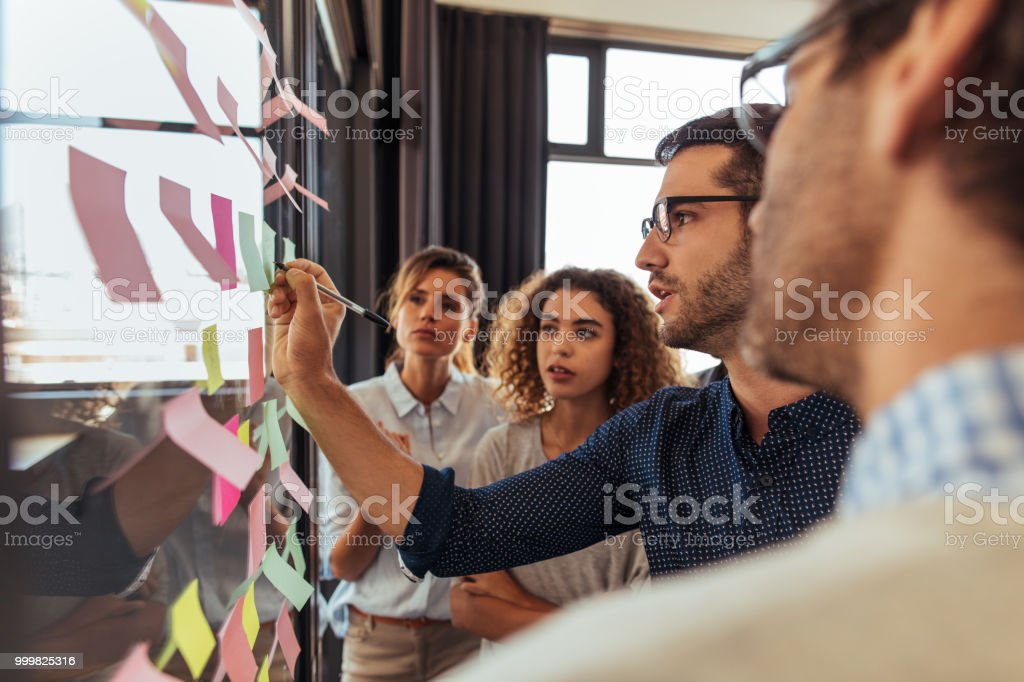 Everything will work out if we follow this solid plan stock photo