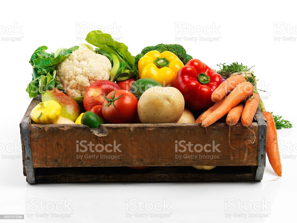 Everything you could want in ingredients stock photo