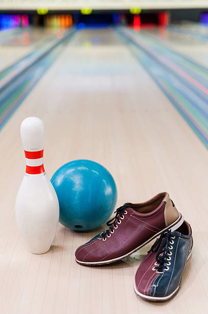 Everything you need for plying bowling. stock photo