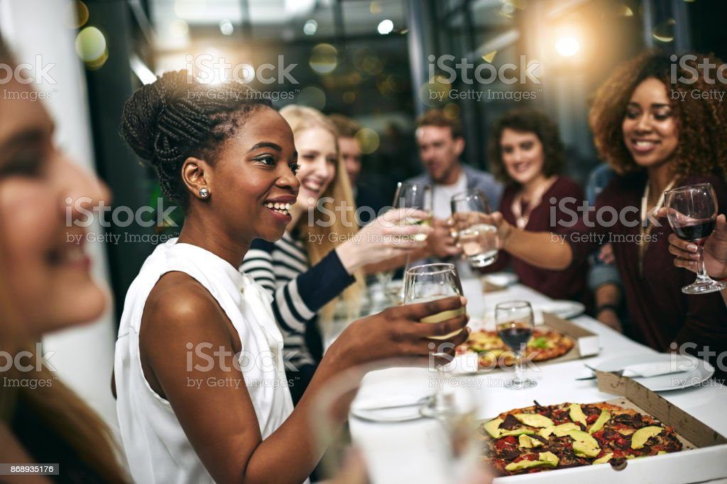 Everything's better when you do it with friends stock photo