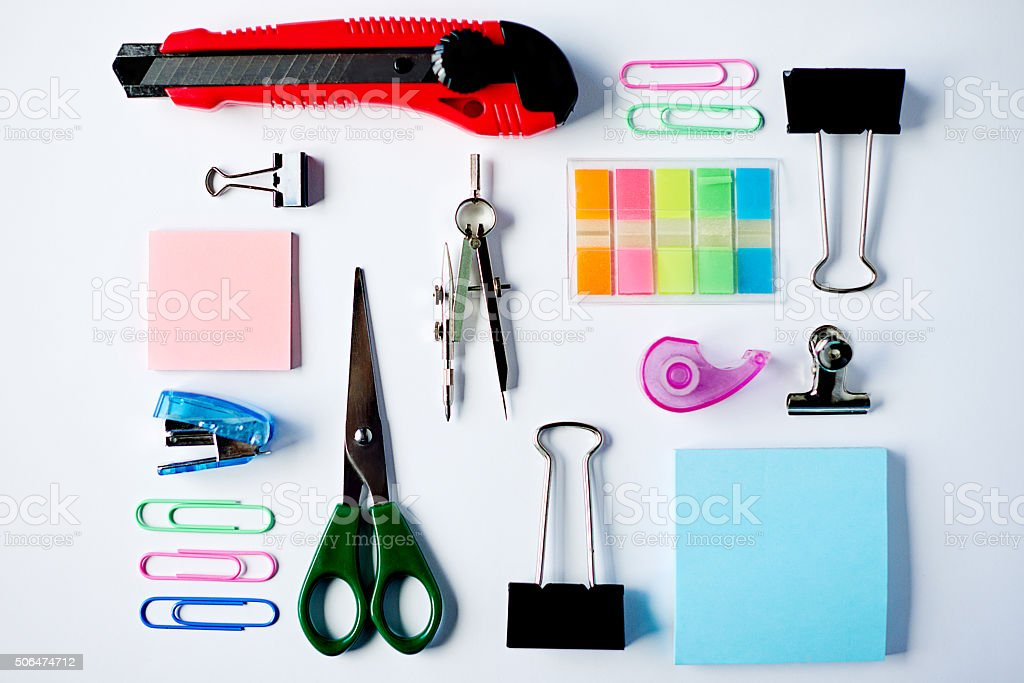 Everything's ready for your creativity stock photo