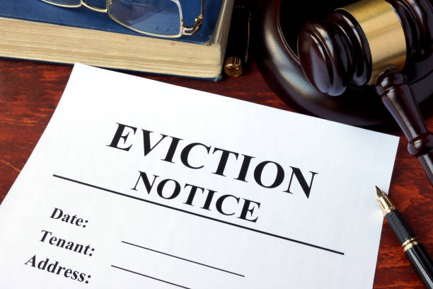 Eviction notice and gavel on a table. Eviction notice and gavel on a table. information sign stock pictures, royalty-free photos & images