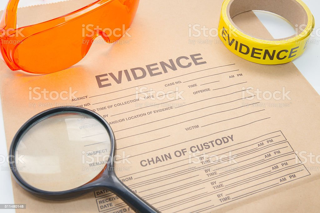 Evidence Bag With Forensic Tool For Crime Scene Investigation Stock Photo Download Image Now Istock