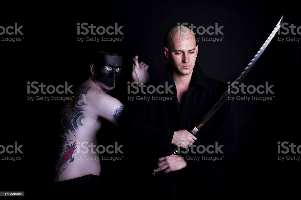 evil and good royalty-free stock photo