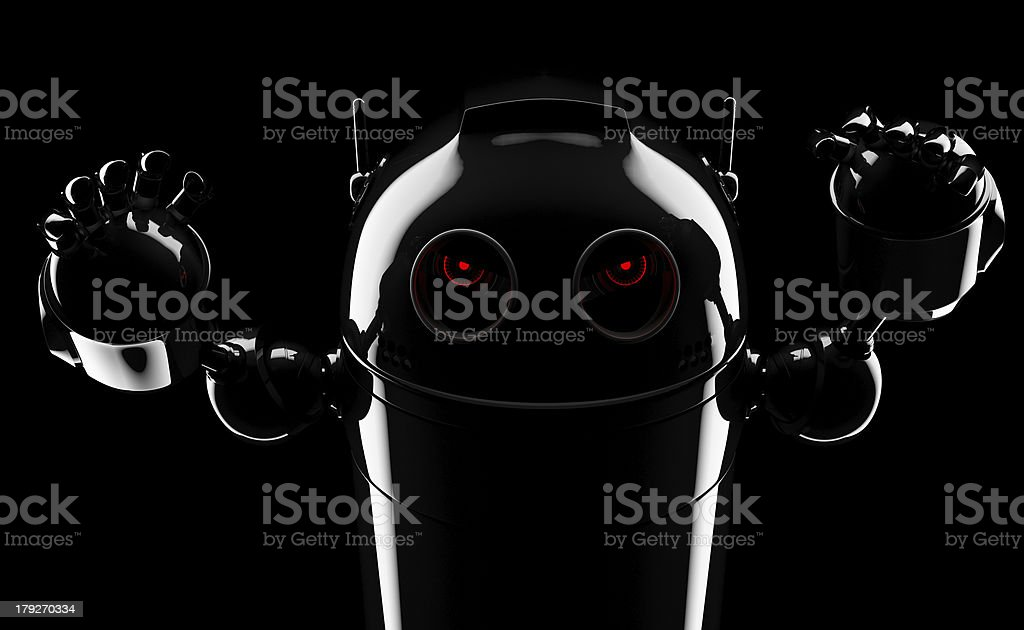 Evil angry robot stock photo