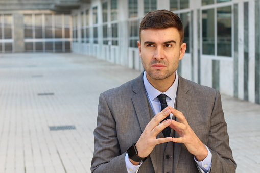Evil Businessman Planning A Revenge Stock Photo - Download Image Now