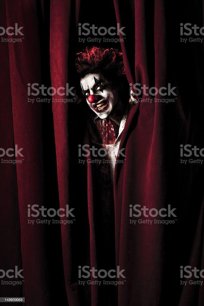Evil Clown royalty-free stock photo