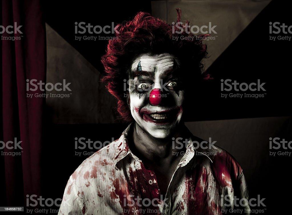 Evil Clown Series: Big Smile royalty-free stock photo