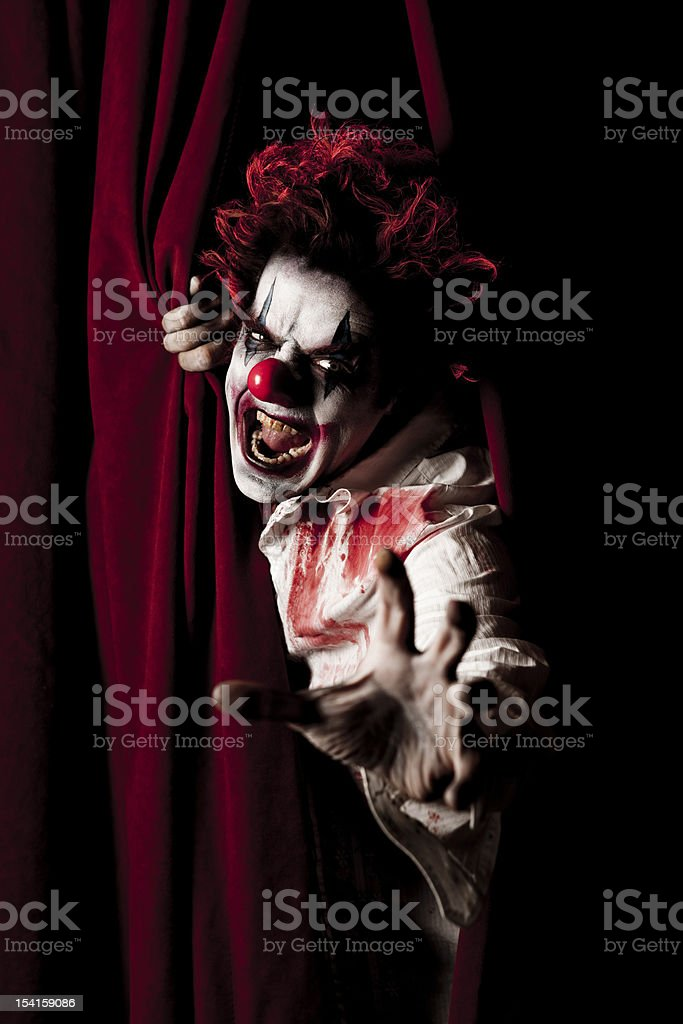 Evil Clown Series: Coming To Get You! royalty-free stock photo