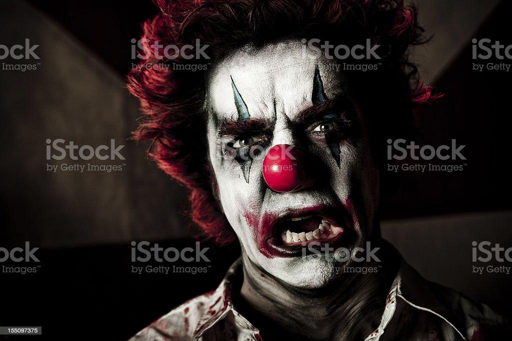 Evil Clown Series royalty-free stock photo