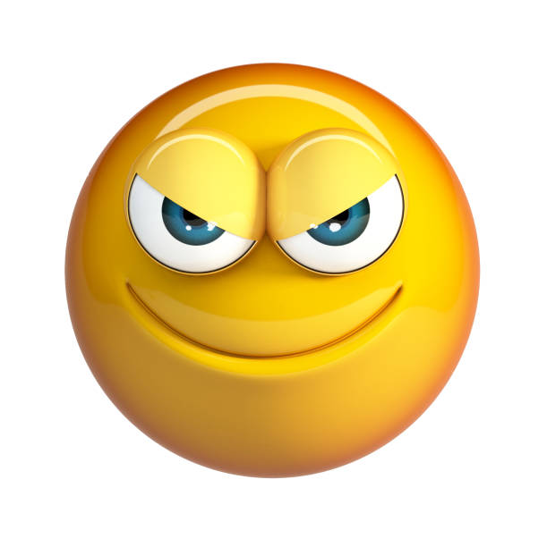 Mal emoji, emoticonos de maldad. - foto de stock