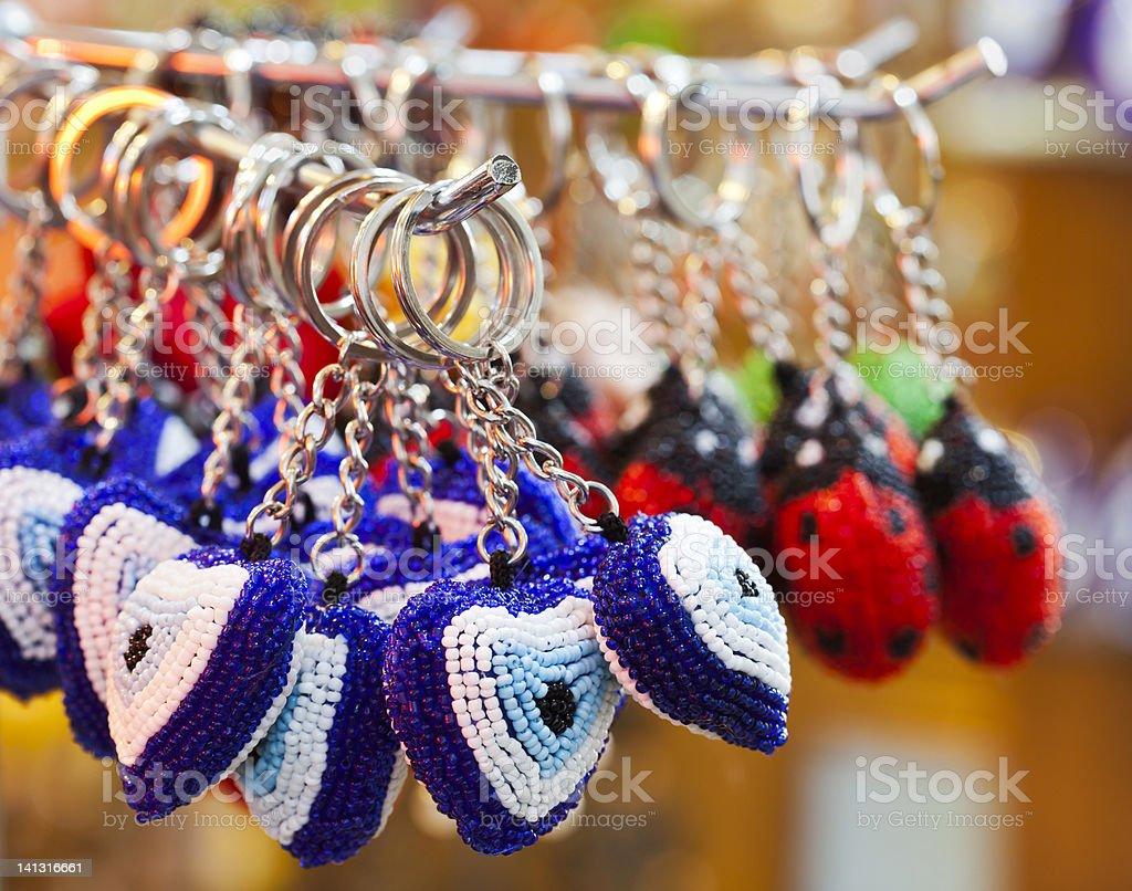 Evil eye beads royalty-free stock photo