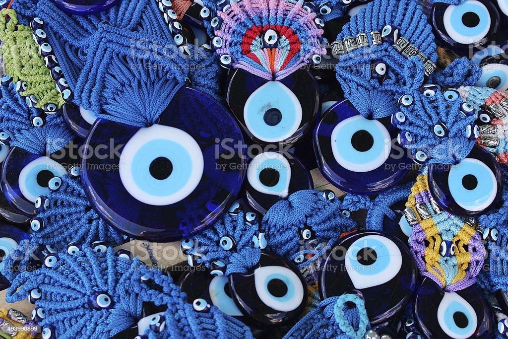 Evil eye charms royalty-free stock photo
