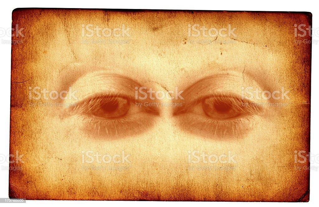 Evil Eyes Card royalty-free stock photo