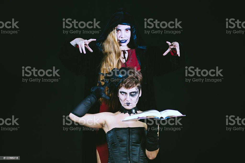 Evil magic spells stock photo