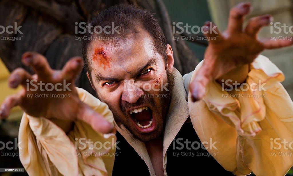 Evil male vampire stock photo