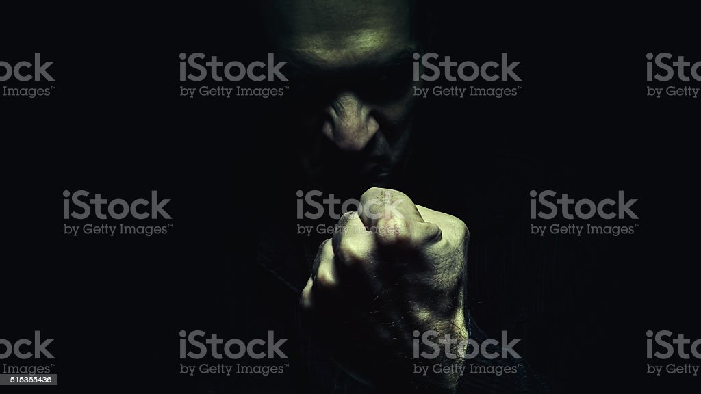 Evil Man With the Fist stock photo