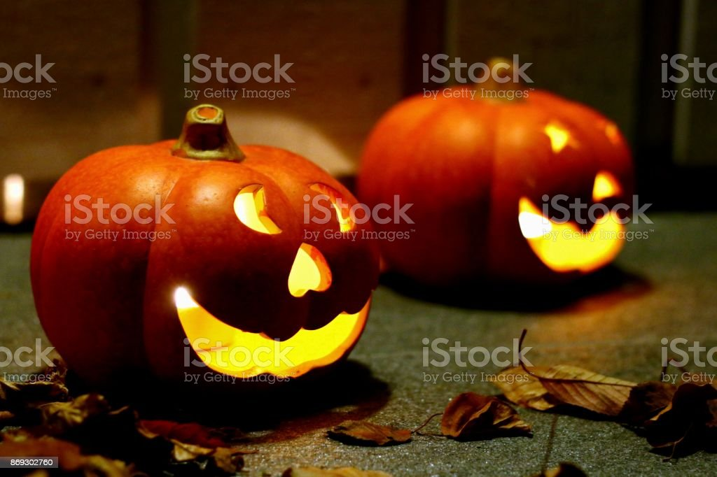 Evil pumpkin stock photo