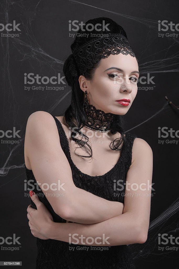 Evil Queen stepmother stock photo