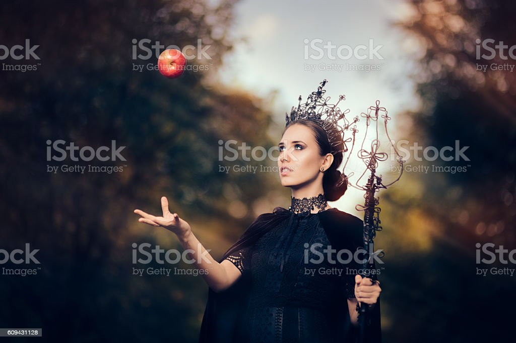 Evil Queen with Poisoned  Apple in Fantasy Portrait - Photo