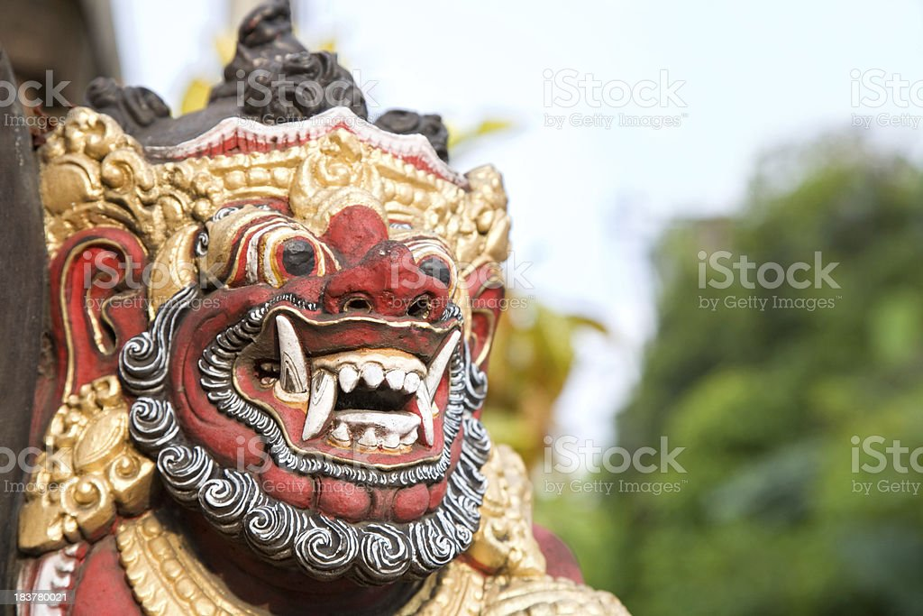 Evil spirit Bali Indonesia stock photo