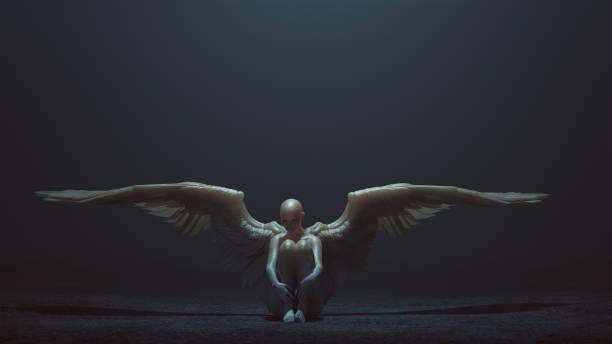 Evil spirit with wings sitting down with its knees up in a foggy void picture id953113880?b=1&k=6&m=953113880&s=612x612&w=0&h=jmp3yxmcu763mt6amvajm1qm62nzyqyfg4r90cwtf g=